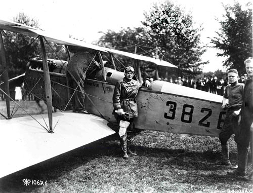The first air mail flight between Washington, D.C. and New York City on May 18, 1918.