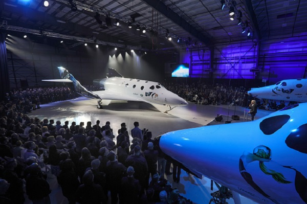 VSS Unity roll out on Feb. 19, 2016. (Credit: Virgin Galactic)