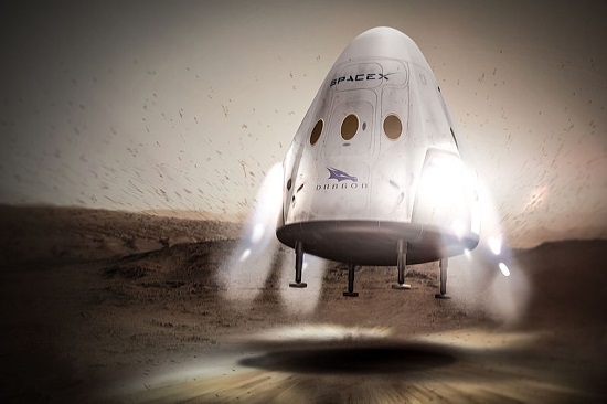 Red Dragon landing on Mars (Credit: SpaceX)