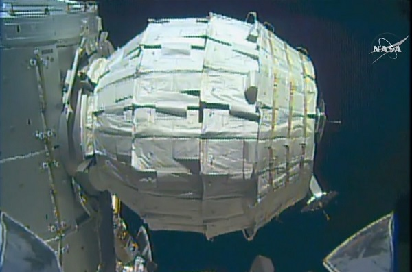 BEAM module (Credit: NASA TV)