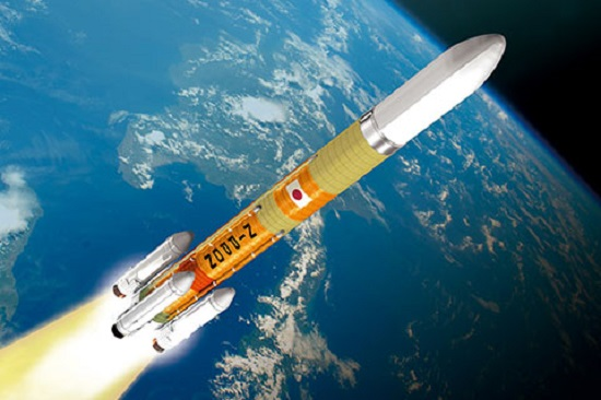 Artist's conception of H3 rocket. (Credit: JAXA)