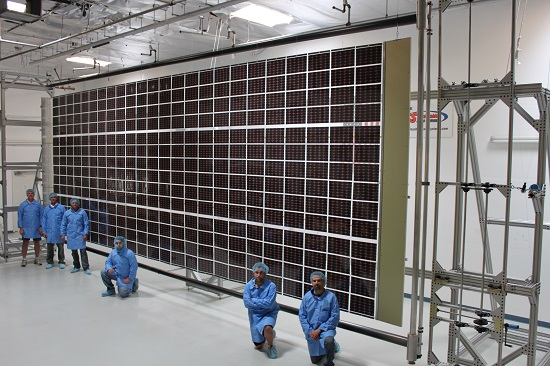 Roll Out Solar Array (ROSA) technology undergoes testing (Credits: Deployable Space Systems, Inc.)