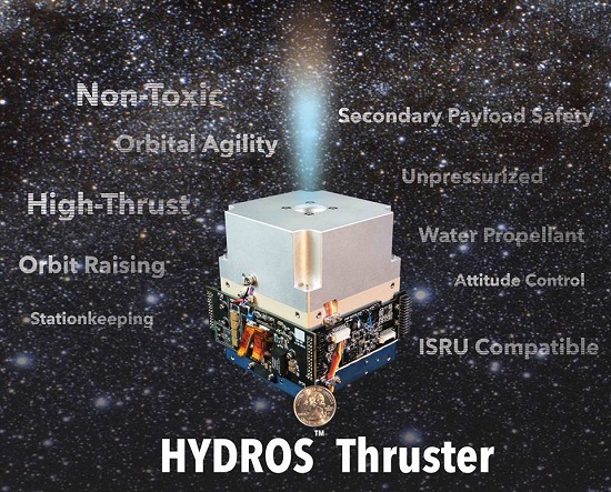 HYDROS thruster (Credit: Tethers Unlimited)