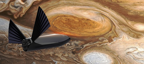 Interplanetary Transport System at Jupiter. (Credit: SpaceX)