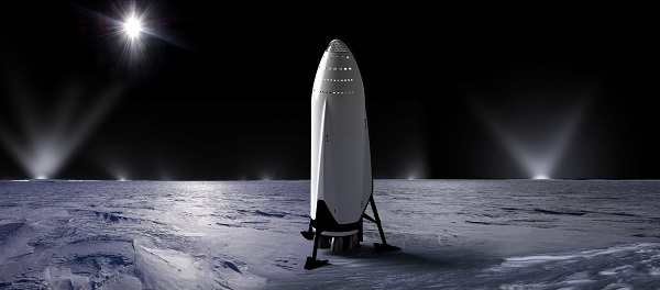 Interplanetary Transport System at Enceladus. (Credit: SpaceX)