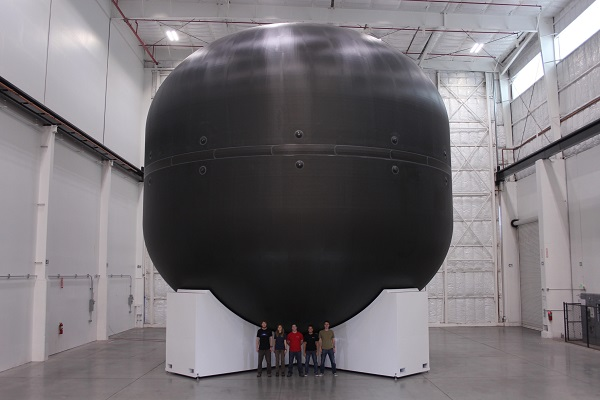 Tank for the Interplanetary Transport System. (Credit: SpaceX)