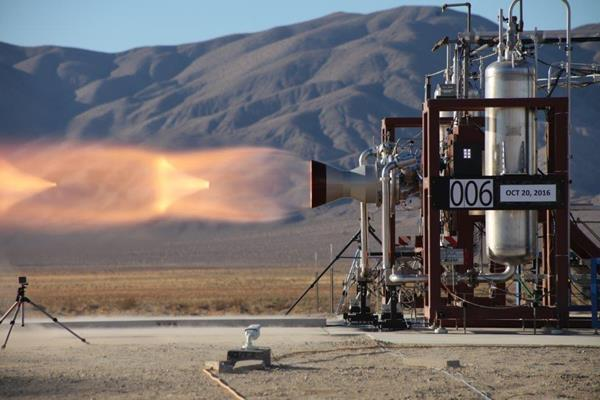 Aerojet Rocketdyne successfully completed a series of hot-fire tests on two Launch Abort Engines featuring innovative new propellant valves for Boeing's CST-100 Starliner service module propulsion system. (Credit: Aerojet Rocketdyne)