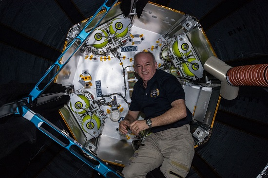 View of Jeff Williams, Expedition 47 Flight Engineer during Bigelow Expandable Activity Module (BEAM) Ingress. (Credit: NASA)