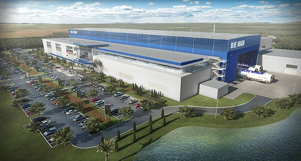 New Glenn production facility. (Credit: Blue Origin)