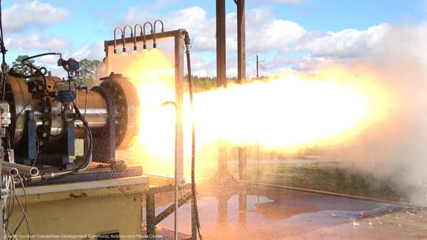VORTEX hot fire. (Credit: Combat Capabilities Development Command, Aviation and Missile Center)